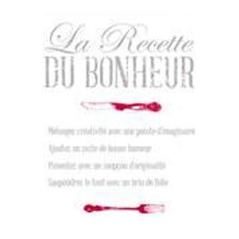 stickers recette de cuisine stickers cuisine quot la recette du bonheur quot 50x70cm
