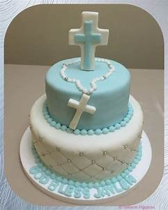 Baby Dedication Cake Designs Communion Cake For Boy With Blue Cross Holy Communion