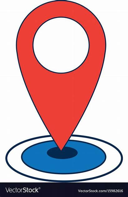 Gps Navigation Icon Vector Pointer Location Map