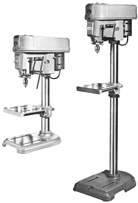 Delta Floor Standing Drill Press by Vintage Craftsman Drill Press Manual Bert