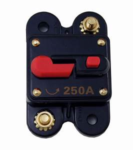 1  Circuit Breaker 250 Amp With Gold Plated Terminals