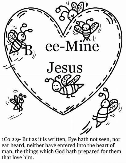 Coloring Valentine Pages Printable Valentines Christian Church
