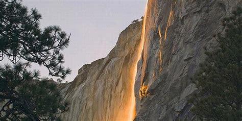 api terjun horsetail falls yosemite national park california wisata foto dunia