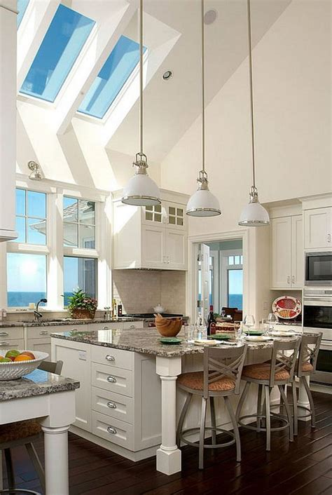 Don't forget about your kitchen ceiling! 34 Awesome Kitchen Lighting Ideas - The WoW Style