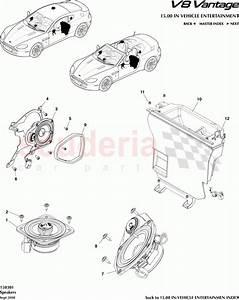 Aston Martin V8 Vantage Speakers Parts