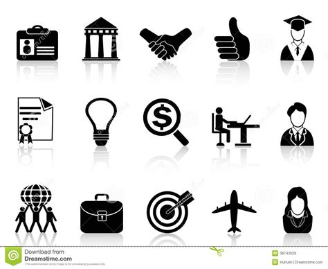 12343 college and career clipart black and white business career icons royalty free stock images image