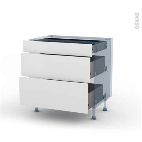 kit tiroir cuisine ginko blanc kit rénovation 18 meuble casserolier 3 tiroirs