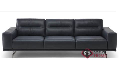 Panaro (c018) Leather Stationary Sofa By Natuzzi Is Fully