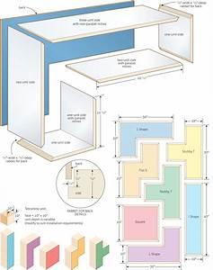 Stack 'em up: Tetromino bookshelves – Canadian Home Workshop