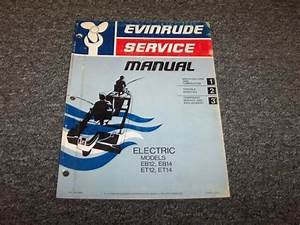 1975 Evinrude Electric Outboard Motor Shop Service Repair