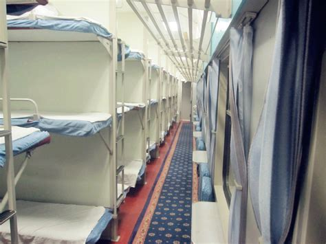 Hard Sleeper Carriage Of Chinese Train, China Train Photos