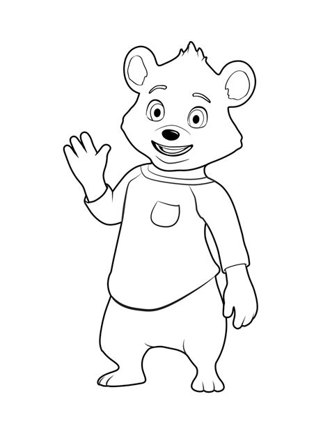 goldie  bear coloring pages    print