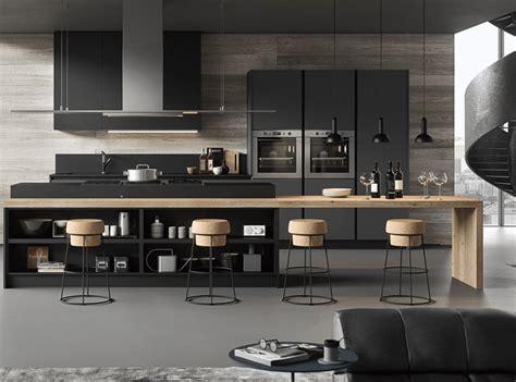 cuisine bois design cuisine design en bois et gris anthracite