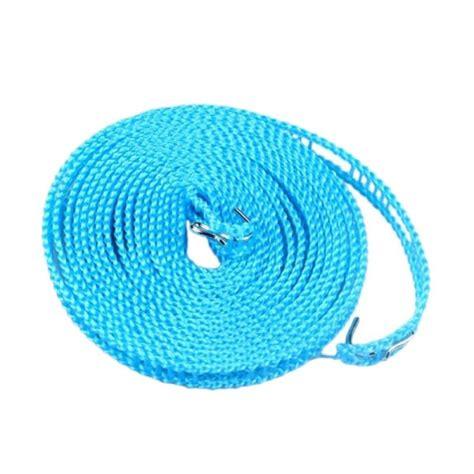 Tali Jemuran 5 Meter Portable jual hanakei hanger tali jemuran serbaguna biru 5 meter