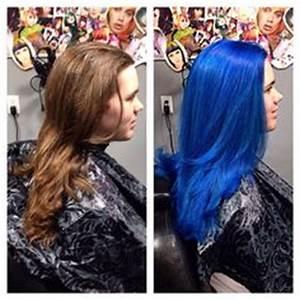 Blue hair Formula 3 oz pravana vivid blue to 5 oz