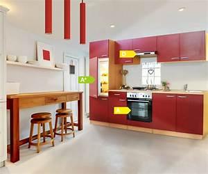 Küche Komplett Günstig Kaufen : k chenzeile 270 cm buche rot einbauk che k che komplett k che k chenset ebay ~ Bigdaddyawards.com Haus und Dekorationen