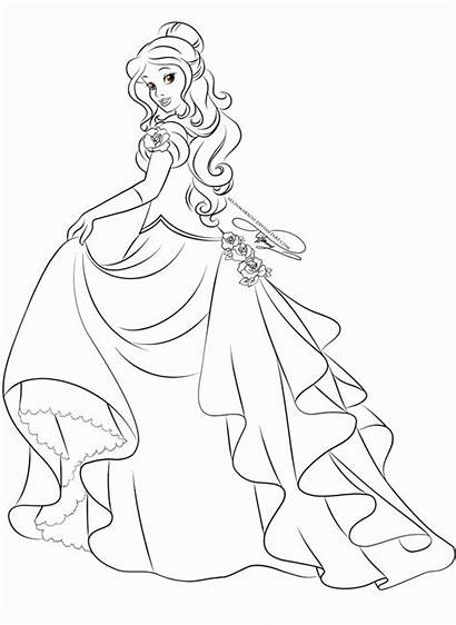 Princess Belle Coloring Deviantart Disney Pages Lineart