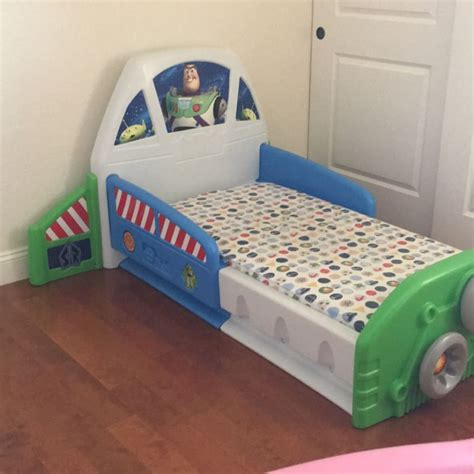 little tikes toy story buzz lightyear toddler bed for sale