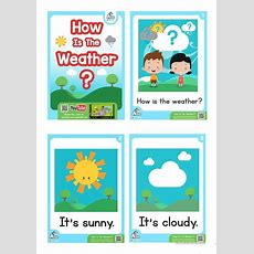 How Is The Weather? Esl Flashcard Set  Weather And Feelings Vocabulary  Material Didáctico
