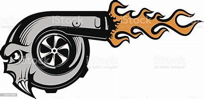 Turbocharger Vector Exhaust Pipe Cartoon Clip Engine