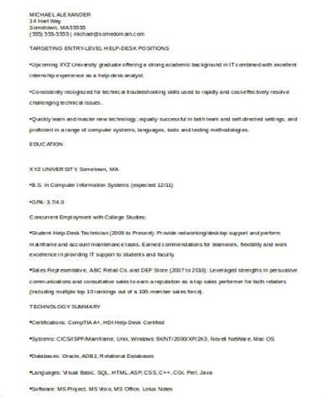 sle technical resume 6 exles in word pdf