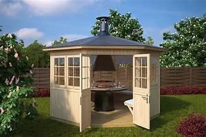 garden bbq hut festival 95m2 21mm 36 x 33 m With katzennetz balkon mit garde hut