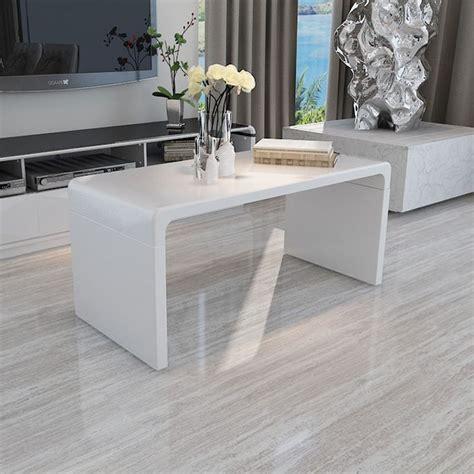 design modern high gloss white coffee table sideend table