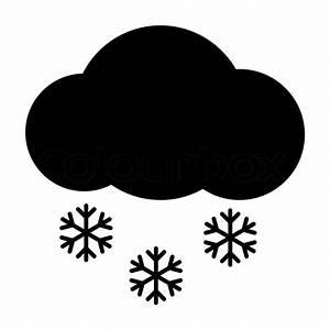 Wetter icon - Wolke Schnee | Stock-Vektor | Colourbox