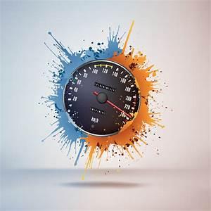 Speedometer design element vector 01 - Vector Car free ...