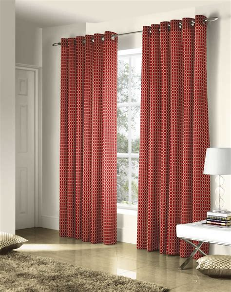 ritz faux silk embroidered lined eyelet curtains ready