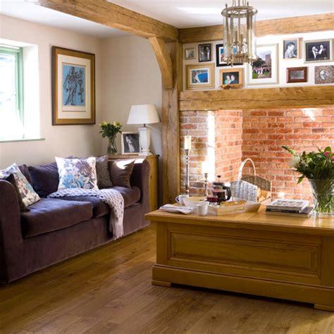 cottage livingrooms warm living room cottage living room ideal home