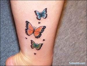 Kleiner Schmetterling Tattoo : three butterfly tattoo labels beautiful tattoos butterfly tattoos on ankle inked ~ Frokenaadalensverden.com Haus und Dekorationen
