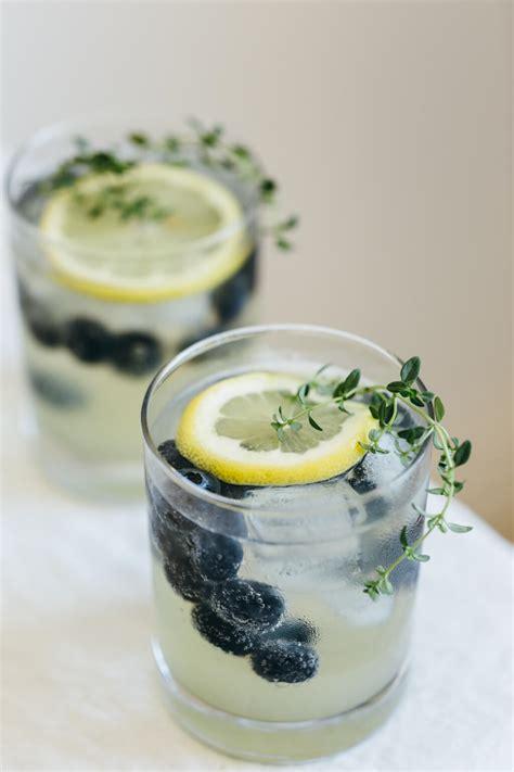 limoncello prosecco  blueberries  thyme