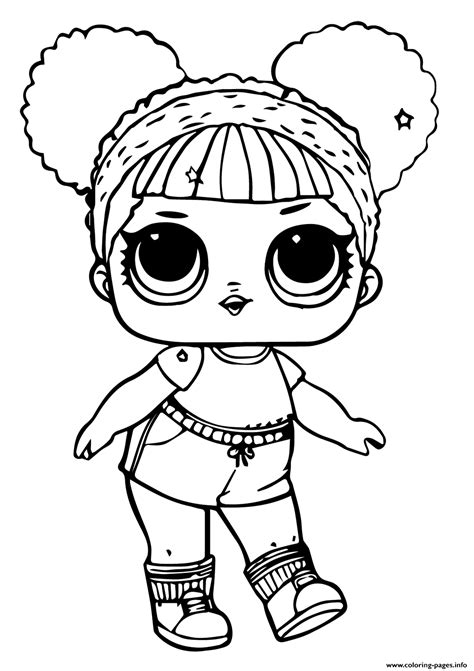 lol doll hoops mvp glitter coloring pages printable