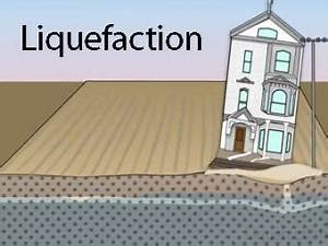 Liquefaction is a process by which water-saturated ...