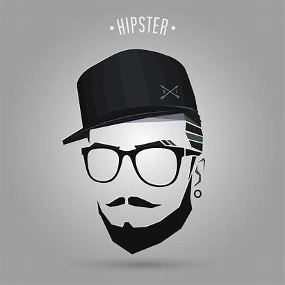 Hipster Cap Glasses Vector Young Vectors Illustration