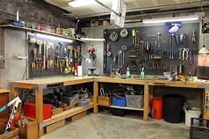 Pegboard Selber Bauen : l shaped garage workbench with pegboard tool storage the ~ Watch28wear.com Haus und Dekorationen