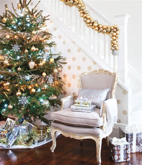 gold  silver   years decorating trendy tree blog
