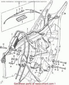 Honda Cl175 Scrambler 175 K6 1972 Usa Wire Harness- Ignition Coil