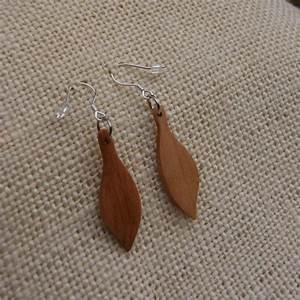 boucles d39oreilles bijoux bois fabrication artisanale With bijoux en bois