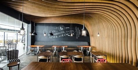 Cavernous Cool Interior by 7 Wooden Stylish Cafes Wewood Portuguese Joinery