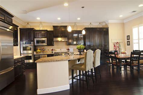 kitchens  rich dark wood floors home improvements
