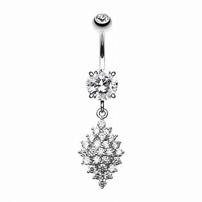 Belly Button Diamond Ring Sparkle Crystals Vibrant