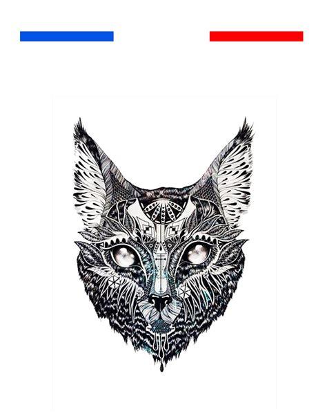 tatouage temporaire chat tribal boheme mon petit