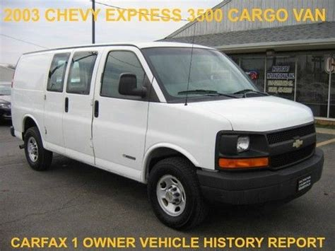 Buy Used 2003 Chevy Express 3500 Cargo Van Ls Lt 3 4 Dr