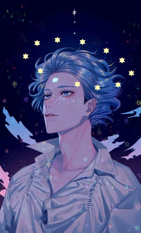 blue aesthetic wallpaper anime boy