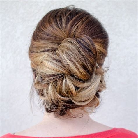 Updo Hairstyles For Hair Casual modern wedding updo we this moncheribridals