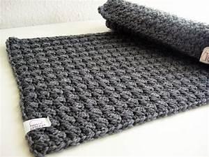 Wolle Für Topflappen : 2 platzsets geh kelt 100 wolle grau dawanda ~ Watch28wear.com Haus und Dekorationen