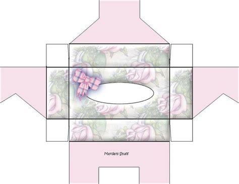 tissue box  paper box template box template diy dollhouse