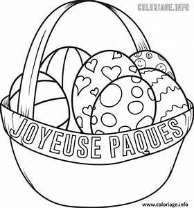 Panier Oeufs De Paques : coloriage panier oeuf de paques happy easter ~ Melissatoandfro.com Idées de Décoration